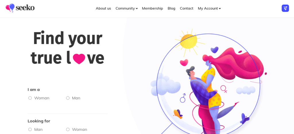 seeko an excellent wordpress platform for dating websites